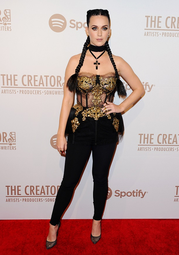 Mandatory Credit: Photo by Broadimage/REX/Shutterstock (5586665v) Katy Perry The Creators Party Presented by Spotify, Los Angeles, America - 13 Feb 2016 WEARING DOLCE & GABBANA