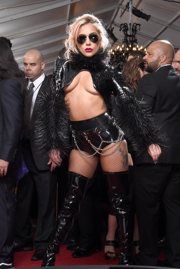Mandatory Credit: Photo by Jim Smeal/BEI/Shutterstock (8344889fl) Lady Gaga 59th Annual Grammy Awards, Arrivals, Los Angeles, USA - 12 Feb 2017 WEARING ALEX ULICHNY