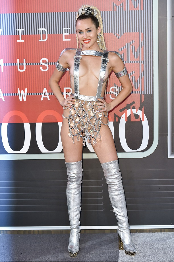 Mandatory Credit: Photo by Rob Latour/REX/Shutterstock (5012161op) Miley Cyrus MTV Video Music Awards, Arrivals, Los Angeles, America - 30 Aug 2015 WEARING VERSACE